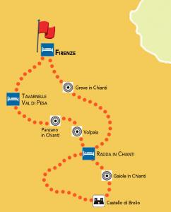 mappa tour chianti classico