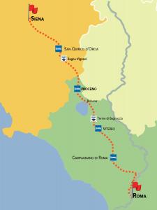 itinerario via francigena siena-roma