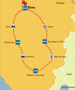mappa tour senese