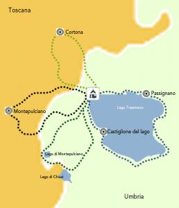 Mappa cicloturismo trasimeno