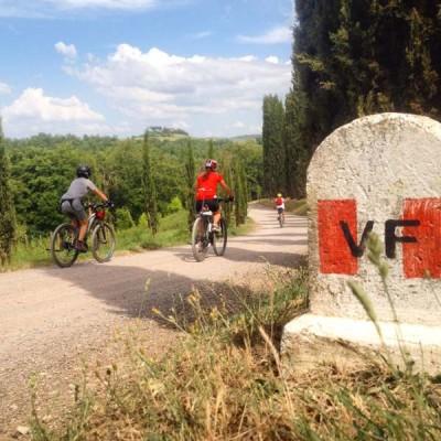 Via Francigena in bici
