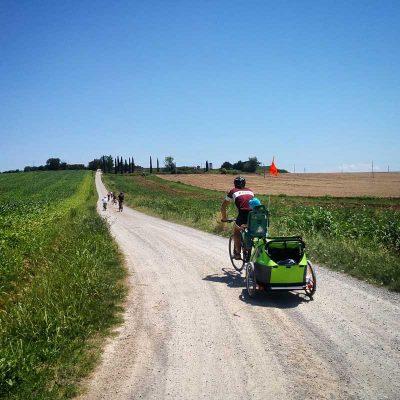 famiglie in bici