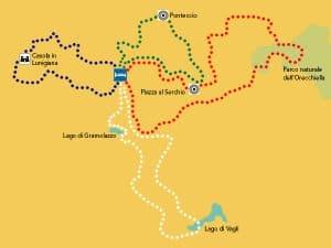 mappa garfagnana bici